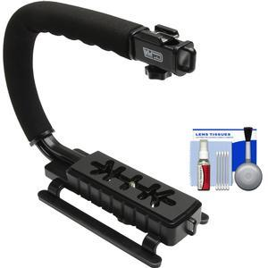 Vidpro VB-12 Stabilizer Hand Grip for DSLR Cameras Video Camcorders and Action Cameras with Cleaning Kit