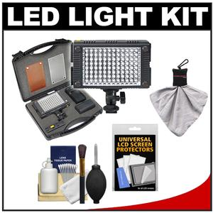 Vidpro 9-Piece Pro Photo-Video LED Light Kit with Battery Charger Diffusers and Case with Cleaning and Accessory Kit