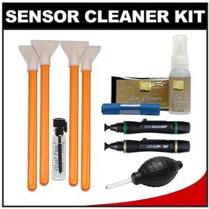 VisibleDust EZ Sensor Cleaning Kit for Size 1.6x-16mm-Digital SLR Cameras with 1ml Liquid vDust Plus and 4 Vswabs and-2-Lenspen and Nikon Cleaning Accessory Kit