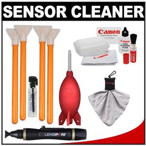 VisibleDust EZ Sensor Cleaning Kit for Size 1.6x Digital SLR Cameras with 1ml Liquid vDust Plus & 4 Vswabs + Lenspen + Canon Cleaning Accessory Kit
