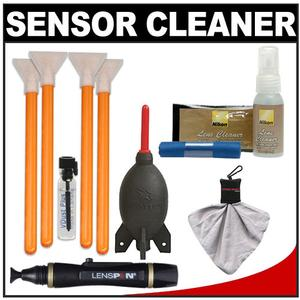 VisibleDust EZ Sensor Cleaning Kit for Size 1.6x-16mm-Digital SLR Cameras with 1ml Liquid vDust Plus and 4 Vswabs and Lenspen and Nikon Cleaning Accessory Kit