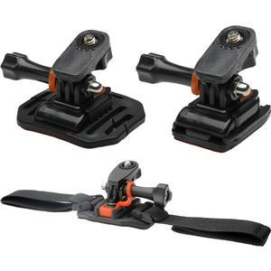 Vivitar Pro Series Curved Helmet Flat Surface and Vented Helmet Mounts for GoPro and All Action Cameras