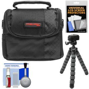 Essentials Bundle for Vivitar DVR-508 and DVR-949 HD Digital Video Camera Camcorder with Case and Flex Tripod and Screen Protectors and Kit