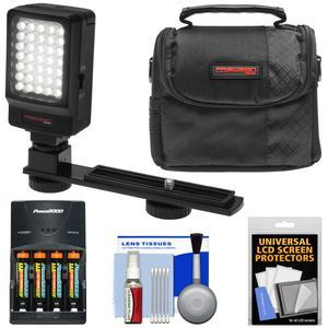 Essentials Bundle for Vivitar DVR-508 and DVR-949 HD Digital Video Camera Camcorder with LED Video Light + AAA Batteries and Charger + Case + Kit