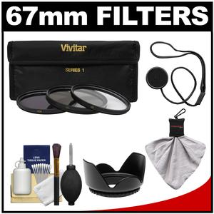 Get Vivitar 3-Piece Multi-Coated HD Filter Set (67mm UV/CPL/ND8) with Lens Hood + Accessory Kit Before Special Offer Ends