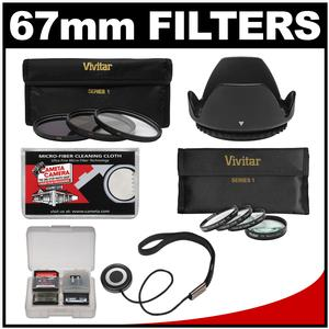Deals Vivitar 3-Piece Multi-Coated HD Filter Set (67mm UV/CPL/ND8) & 4 Macro Filter Set + Lens Hood + Accessory Kit Before Special Offer Ends