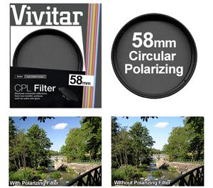 Vivitar 58mm Circular Polarizer Glass Filter