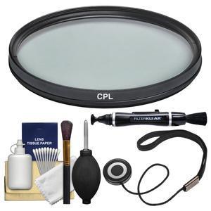 Vivitar 62mm Circular Polarizer Glass Filter with LensPen + CapKeeper + Lens Cleaning Kit