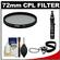 Vivitar 72mm Circular Polarizer Glass Filter with LensPen + CapKeeper + Lens Cleaning Kit