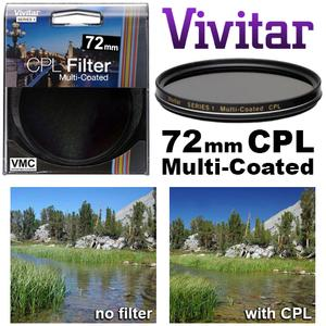 Vivitar Series 1 72mm Multi-Coated Circular Polarizer Glass Filter