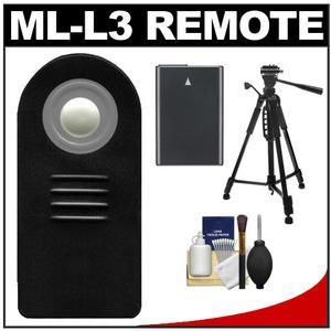 Vivitar ML-L3 Wireless Shutter Release Remote Control for Nikon Digital SLR Cameras with EN-EL14 Battery + Tripod + Accessory Kit for Nikon Coolpix P7700, D3200, D5100