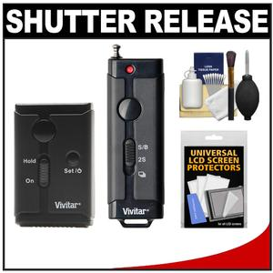 Vivitar Universal Wireless and Wired Shutter Release Remote Control with Accessory Kit for Nikon Digital SLR Cameras