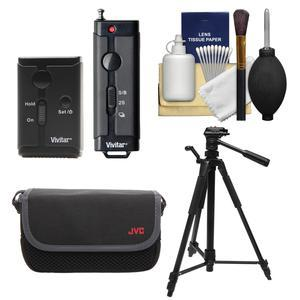 Vivitar Universal Wireless and Wired Shutter Release Remote Control with Travel Case + Tripod + Accessory Kit for Olympus DSLR & Micro 4/3 Digital Cameras