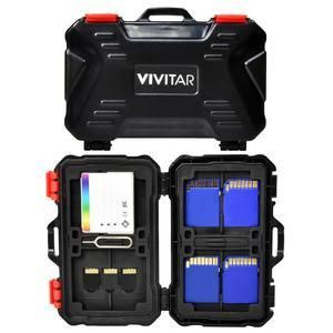 Vivitar Memory Card Hard Protector Case - Holds 4 CF 8 SD and 12 MicroSD