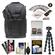 Vivitar Series One Digital SLR Camera/Laptop Sling Backpack - Large (Black) Holds Most 17'