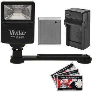 Essentials Bundle for Canon Powershot D30 SX530 SX540 SX540 SX610 SX710 HS with NB-6L Battery + Charger + Flash and Bracket + Kit
