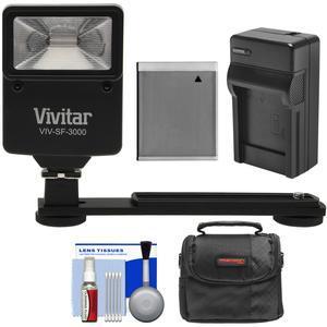 Essentials Bundle for Canon Powershot D30 SX530 SX540 SX540 SX610 SX710 HS with NB-6L Battery + Charger + Case + Flash and Bracket + Kit