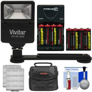Essentials Bundle for Kodak PixPro AZ251 AZ365 FZ41 FZ43 WP1 with AA Batteries and Charger + Case + Flash and Bracket + Kit