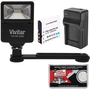 Essentials Bundle for Kodak PixPro AZ361 AZ362 AZ421 AZ422 AZ521 AZ522 AZ525 AZ526 with LB-060 Battery and Charger and Flash and Bracket and Kit