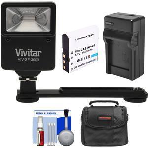 Essentials Bundle for Kodak PixPro AZ361 AZ362 AZ421 AZ422 AZ521 AZ522 AZ525 AZ526 with LB-060 Battery and Charger and Case and Flash and Bracket and Kit