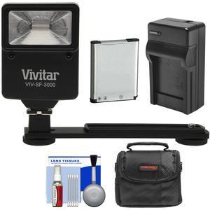 Essentials Bundle for Nikon Coolpix A300 S33 S6900 S7000 W100 with EN-EL19 Battery + Charger + Case + Flash and Bracket + Kit