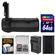 Vivitar BG-E14 Series 1 Multi-Power Battery Grip for Canon EOS 70D DSLR Camera with 64GB Card + LP-E6 Battery & Charger Kit