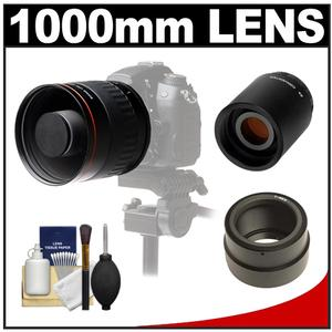 Vivitar 500mm f/6.3 Mirror Lens (T Mount) with 2x Teleconverter (=1000mm) + Accessory Kit