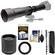 Vivitar 650-1300mm f/8-16 Telephoto Lens (Black) (T Mount) with 2x Teleconverter (=2600mm) + Monopod + Kit