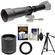 Vivitar 650-1300mm f/8-16 Telephoto Lens (Black) (T Mount) with 2x Teleconverter (=2600mm) + Tripod + Kit