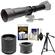 Vivitar 650-1300mm f/8-16 Telephoto Lens (Black) (T Mount) with 2x Teleconverter (=2600mm) + Tripod + Kit