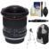 Vivitar 8mm f/3.5 Fisheye Lens (for Canon EOS Cameras) with Sling Backpack + Tripod + Kit