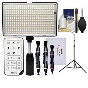 Vivitar Professional 288 LED 1400 Lumens Video Light with Remote with Light Stand + Cleaning Kit