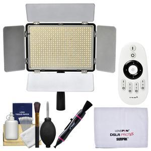 Vivitar Professional 600 LED 2200 Lumens Video Light with Remote with Lens Pen + Cleaning Kit