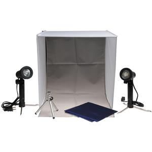 Xit Portable Light Box Photo Studio with 2 Backgrounds 2 Lights Tripod and Carrying Case