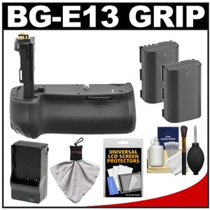 Xit BG-E13 Pro Series Multi-Power Battery Grip for Canon EOS 6D Digital SLR Camera with (2) LP-E6 Batteries & Charger + Accessory Kit