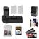 Zeikos BG-E8 Battery Grip for Canon EOS Rebel T2i, T3i, T4i & T5i Digital SLR Camera with (2) LP-E8 Batteries + Charger + Accessory Kit
