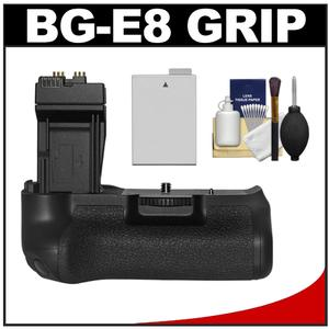 Zeikos BG-E8 Battery Grip for Canon EOS Rebel T2i T3i T4i and T5i Digital SLR Camera with LP-E8 Battery + Cleaning Kit