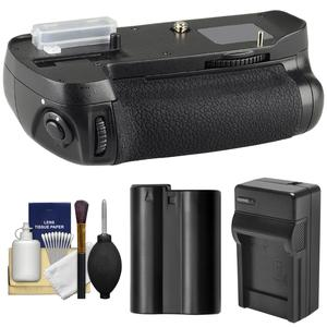 Offer Zeikos MB-D14 Pro Series Multi-Power Battery Grip for Nikon D600 & D610 DSLR Camera with EN-EL15 Battery + Charger + Cleaning Kit Before Special Offer Ends