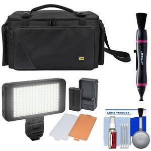 Zuma EC8188 Easy Bag Pro Series Camera - Camcorder Case with LED Video Light + Cleaning Kit