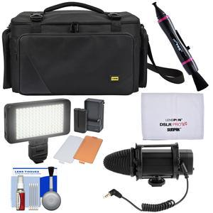 Zuma EC8188 Easy Bag Pro Series Camera - Camcorder Case with LED Video Light + Microphone + Kit