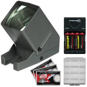 Zuma SV-3 LED 35mm Film Slide and Negative Viewer with - 4 - AA Batteries and Charger + Kit