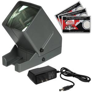 Zuma SV-3 LED 35mm Film Slide and Negative Viewer with AC Adapter + Microfiber Cleaning Cloths